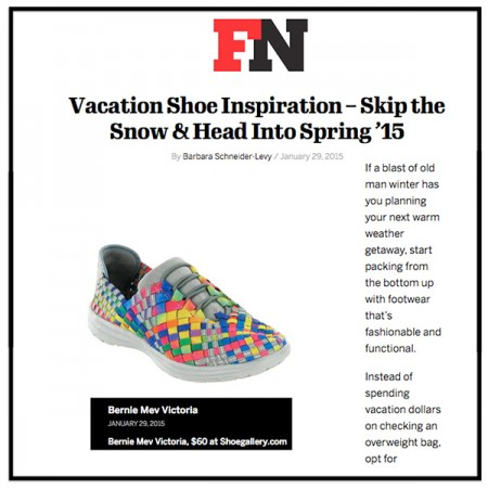 Vacation Footwear That's Light and Packable | Footwear News-VICTORIA